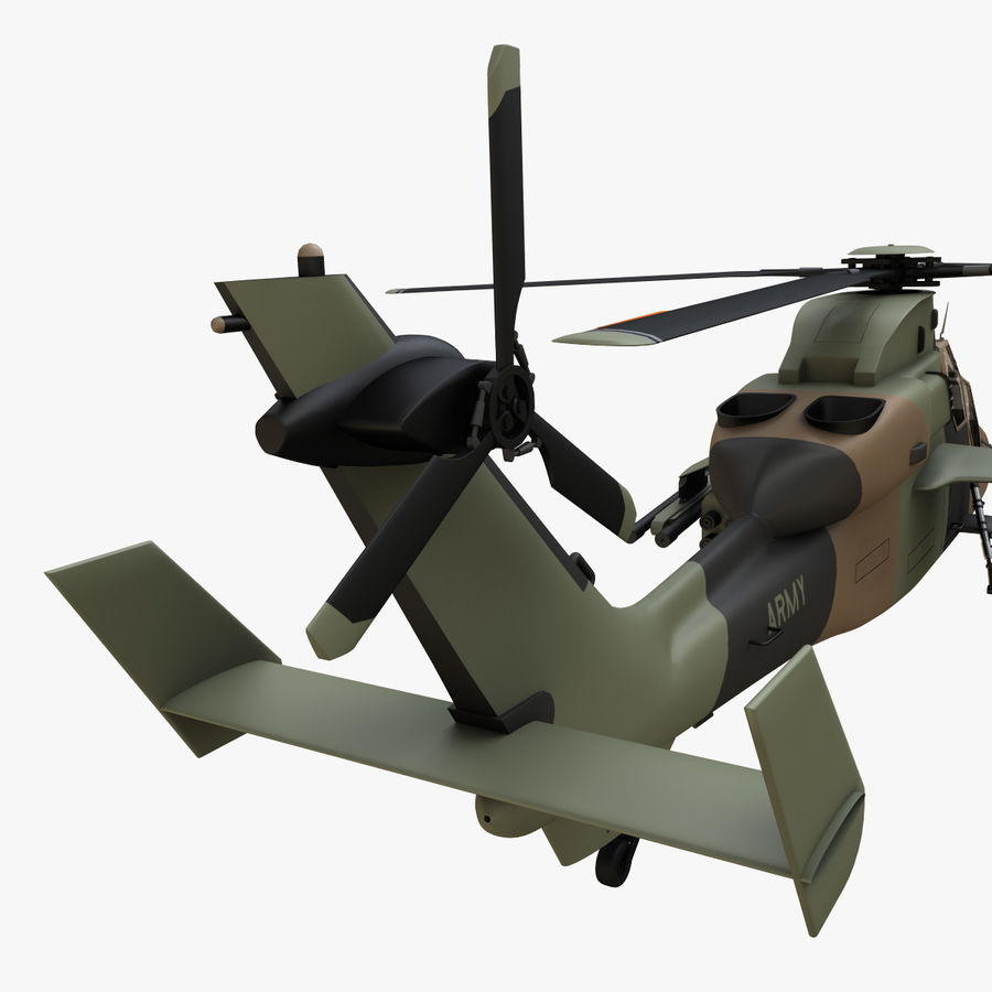 Eurocopter Tiger Attack Helicopter royalty-free 3d model - Preview no. 12
