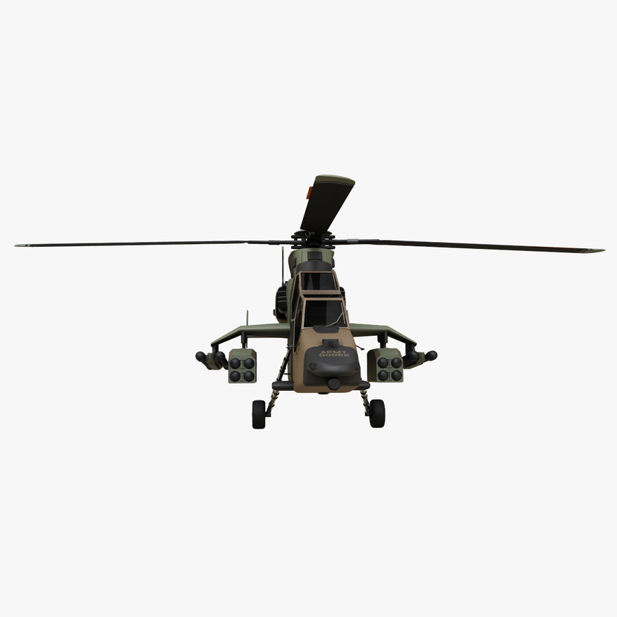 Eurocopter Tiger Attack Helicopter royalty-free 3d model - Preview no. 5