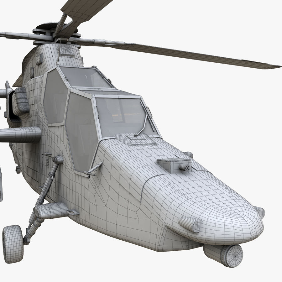 Eurocopter Tiger Attack Helicopter royalty-free 3d model - Preview no. 16