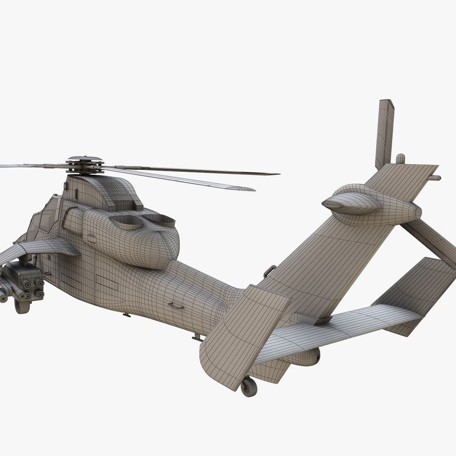 Eurocopter Tiger Attack Helicopter royalty-free 3d model - Preview no. 18