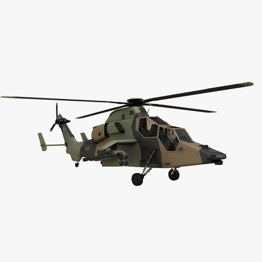Eurocopter Tiger Attack Helicopter royalty-free 3d model - Preview no. 4
