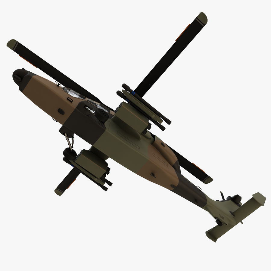 Eurocopter Tiger Attack Helicopter royalty-free 3d model - Preview no. 8