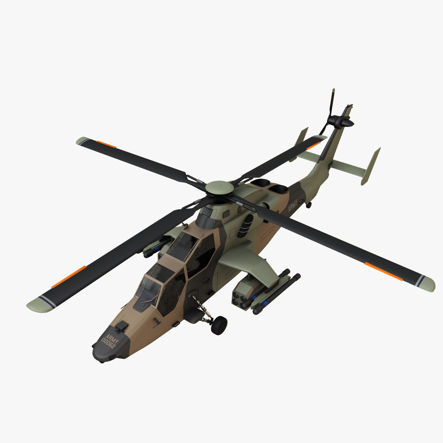 Eurocopter Tiger Attack Helicopter royalty-free 3d model - Preview no. 7