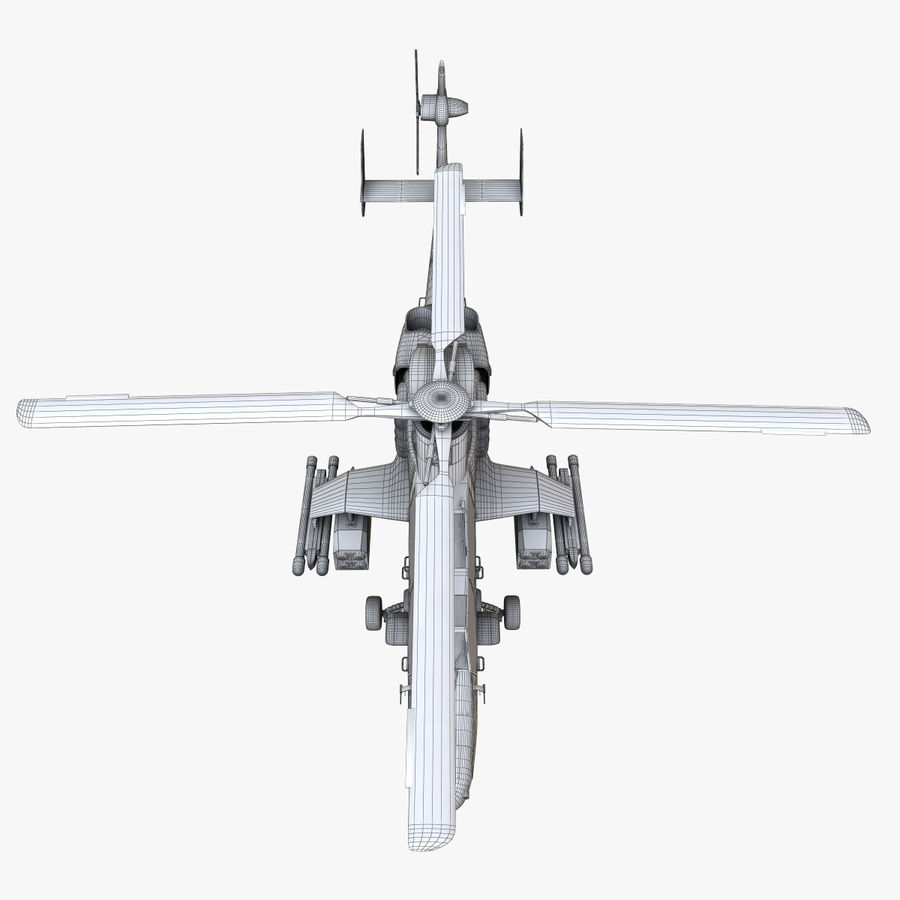 Eurocopter Tiger Attack Helicopter royalty-free 3d model - Preview no. 20