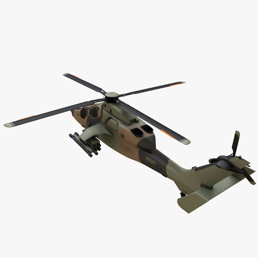 Eurocopter Tiger Attack Helicopter royalty-free 3d model - Preview no. 2