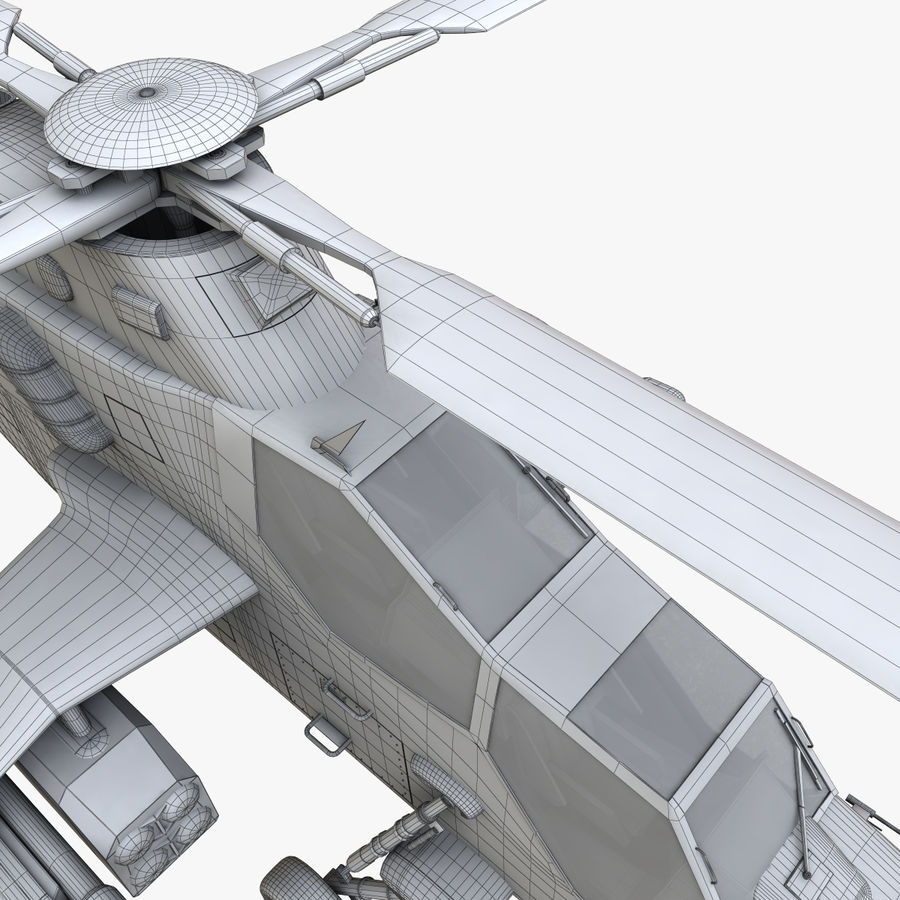 Eurocopter Tiger Attack Helicopter royalty-free 3d model - Preview no. 15