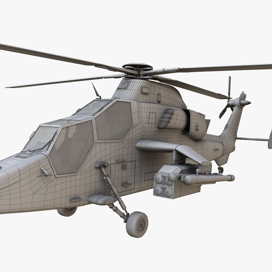 Eurocopter Tiger Attack Helicopter royalty-free 3d model - Preview no. 17