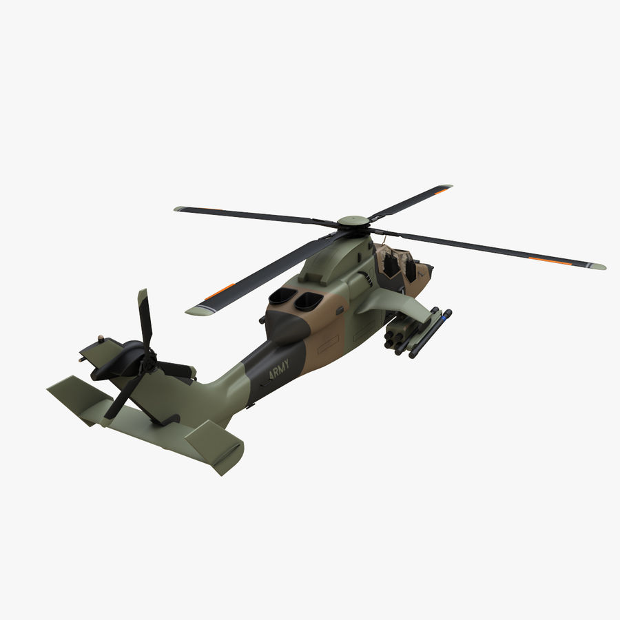 Eurocopter Tiger Attack Helicopter royalty-free 3d model - Preview no. 3