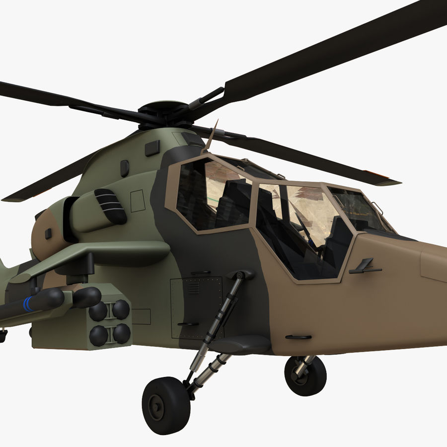 Eurocopter Tiger Attack Helicopter royalty-free 3d model - Preview no. 13