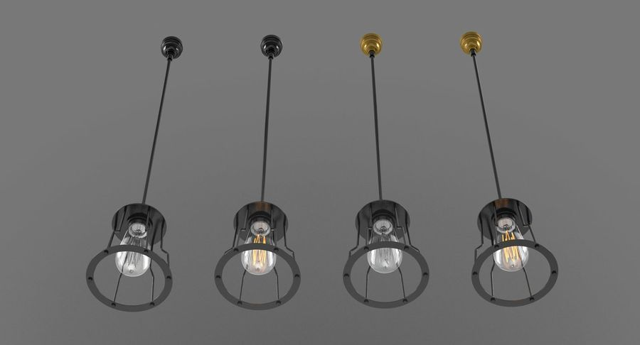 Vintage Light bulbs royalty-free 3d model - Preview no. 7