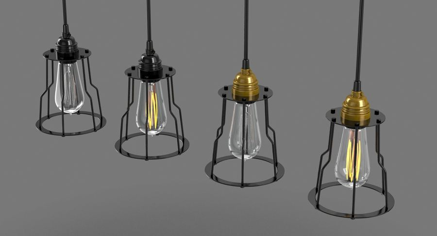 Vintage Light bulbs royalty-free 3d model - Preview no. 4