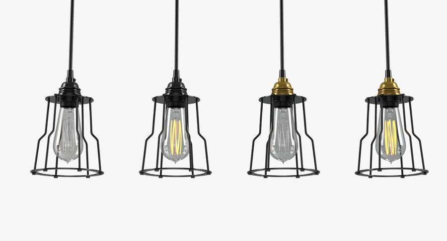 Vintage Light bulbs royalty-free 3d model - Preview no. 2