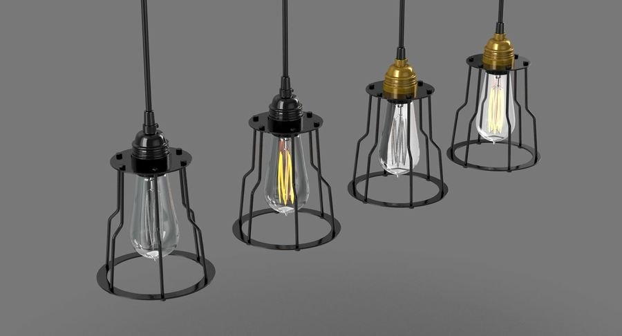 Vintage Light bulbs royalty-free 3d model - Preview no. 5