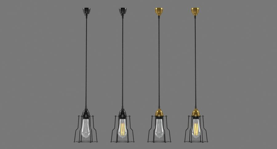 Lampadine vintage royalty-free 3d model - Preview no. 6