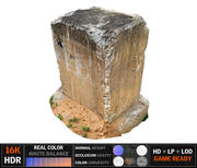 Barricada de concreto 8K 3d model