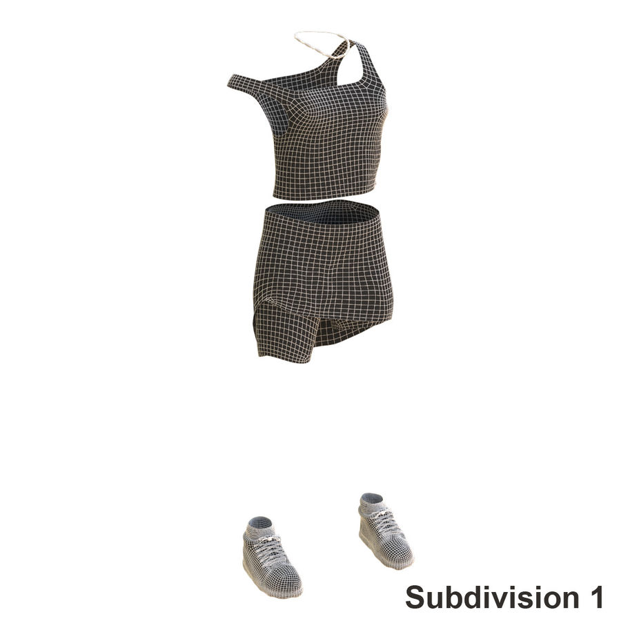 Gündelik Kıyafetler 2 royalty-free 3d model - Preview no. 19