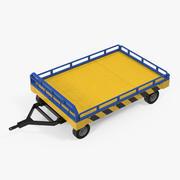 Низкорамная платформа для перевозки транспорта в аэропорту 3d model