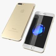 IPhone 7 Plus Modelo 3D Gold 3d model