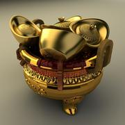Or chinois 3d model