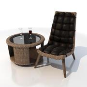 Armchair - business 3d model