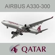Airbus A330 Qatar Airways 3d model