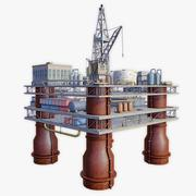 Oil Platform low poly 3d model