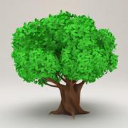 程式化的卡通树 3d model