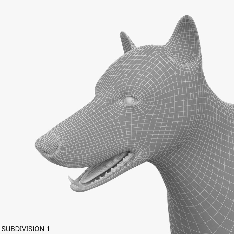 Wolf royalty-free 3d model - Preview no. 20