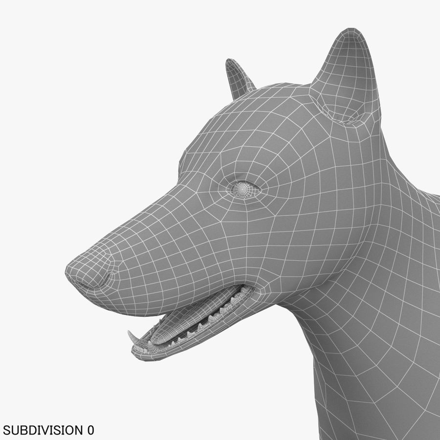 Wolf royalty-free 3d model - Preview no. 17