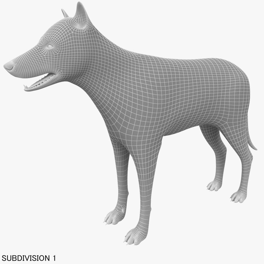 Wolf royalty-free 3d model - Preview no. 18