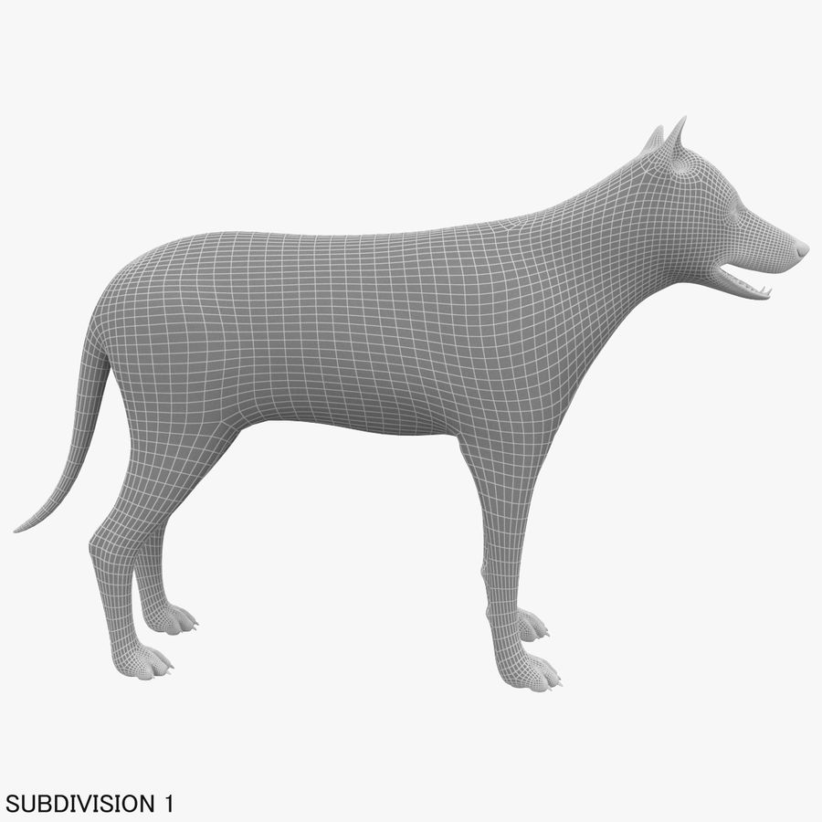 Wolf royalty-free 3d model - Preview no. 19