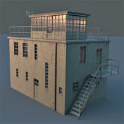 Torre de control modelo 3d