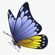 Бабочка и полностью настраиваемая текстура 3d model