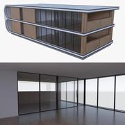 Modern huis met interieur vol 3d model
