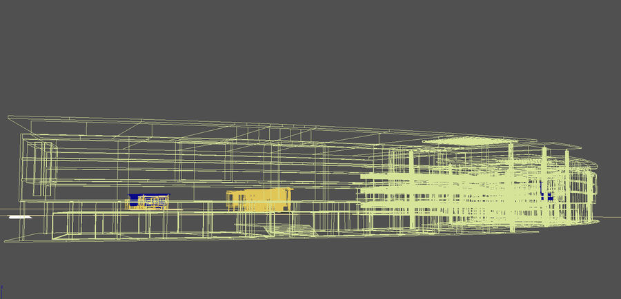 architecture bâtiment moderne 001 royalty-free 3d model - Preview no. 9