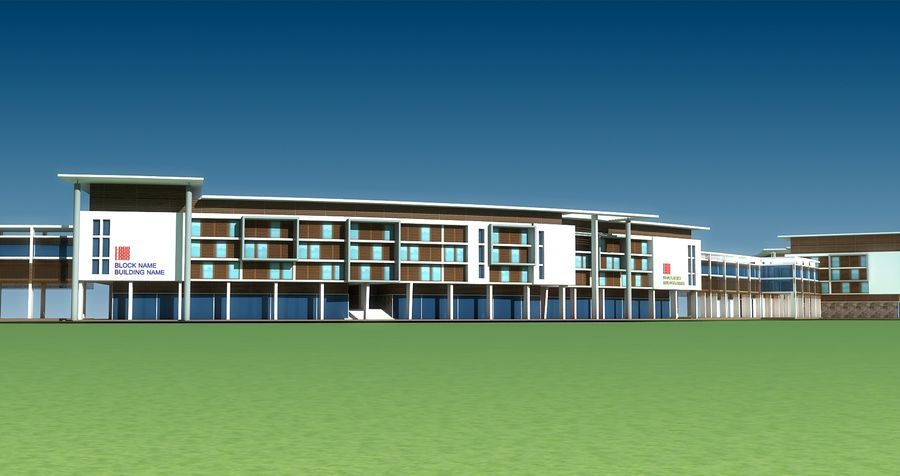 architecture bâtiment moderne 001 royalty-free 3d model - Preview no. 5