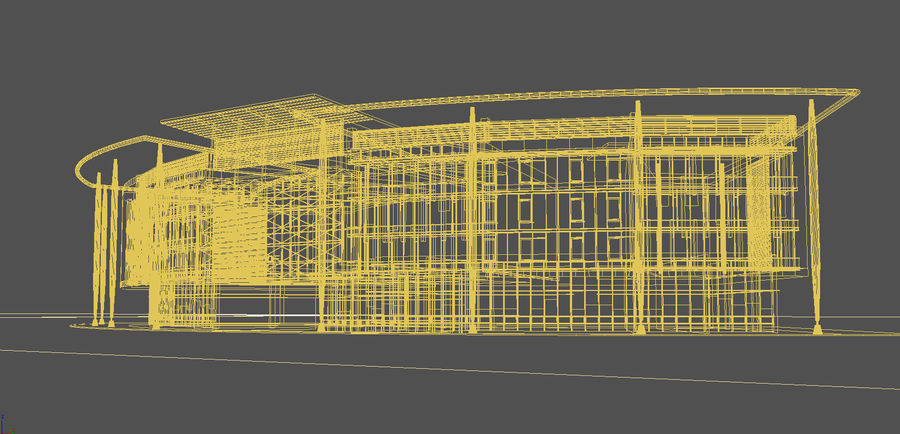 architecture bâtiment moderne 001 royalty-free 3d model - Preview no. 8