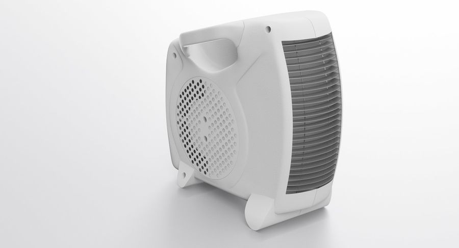 Electric Fan Heater royalty-free 3d model - Preview no. 4