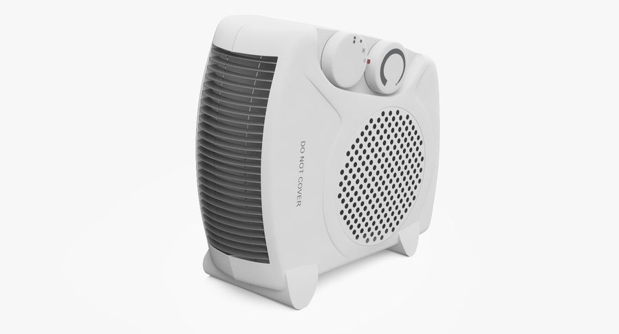Electric Fan Heater royalty-free 3d model - Preview no. 2