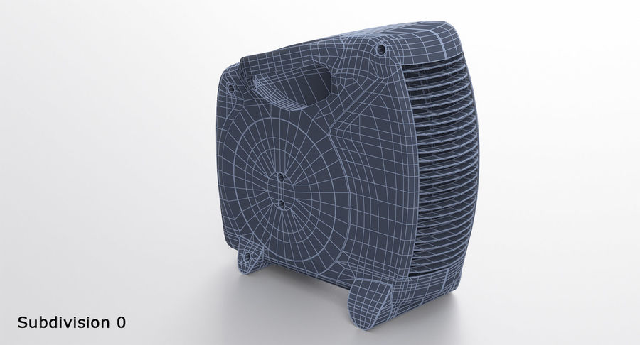 Electric Fan Heater royalty-free 3d model - Preview no. 14