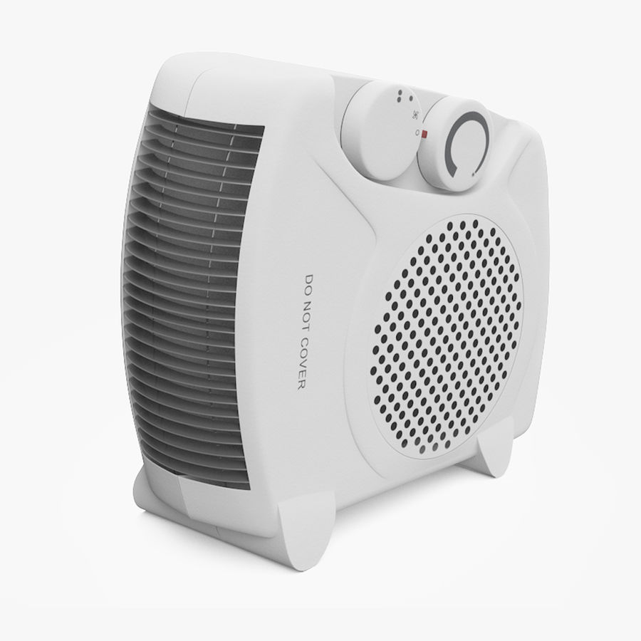 Electric Fan Heater royalty-free 3d model - Preview no. 1