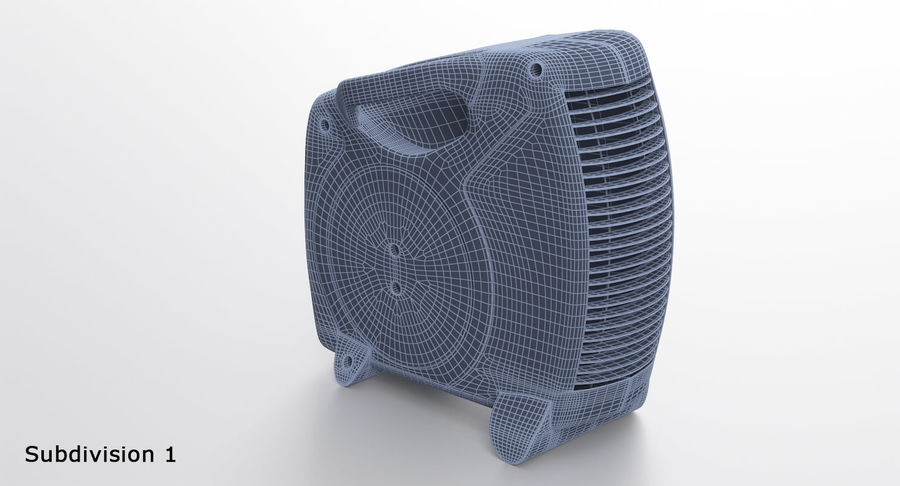Electric Fan Heater royalty-free 3d model - Preview no. 15