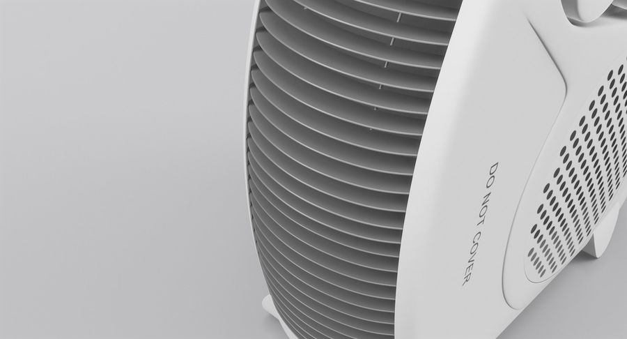 Electric Fan Heater royalty-free 3d model - Preview no. 11