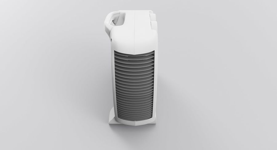 Electric Fan Heater royalty-free 3d model - Preview no. 8