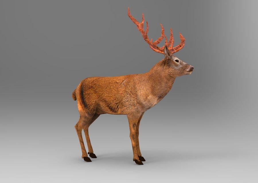 santa Deer Sleigh royalty-free 3d model - Preview no. 21