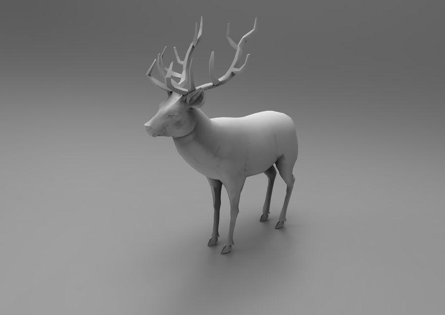 santa Deer Sleigh royalty-free 3d model - Preview no. 22