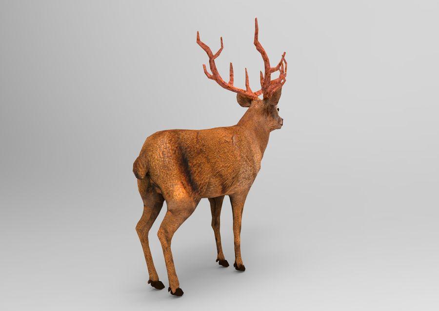 santa Deer Sleigh royalty-free 3d model - Preview no. 20