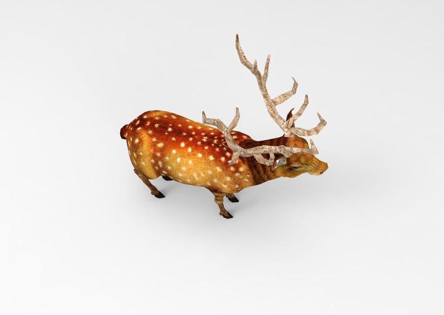サンタ鹿のそり royalty-free 3d model - Preview no. 21