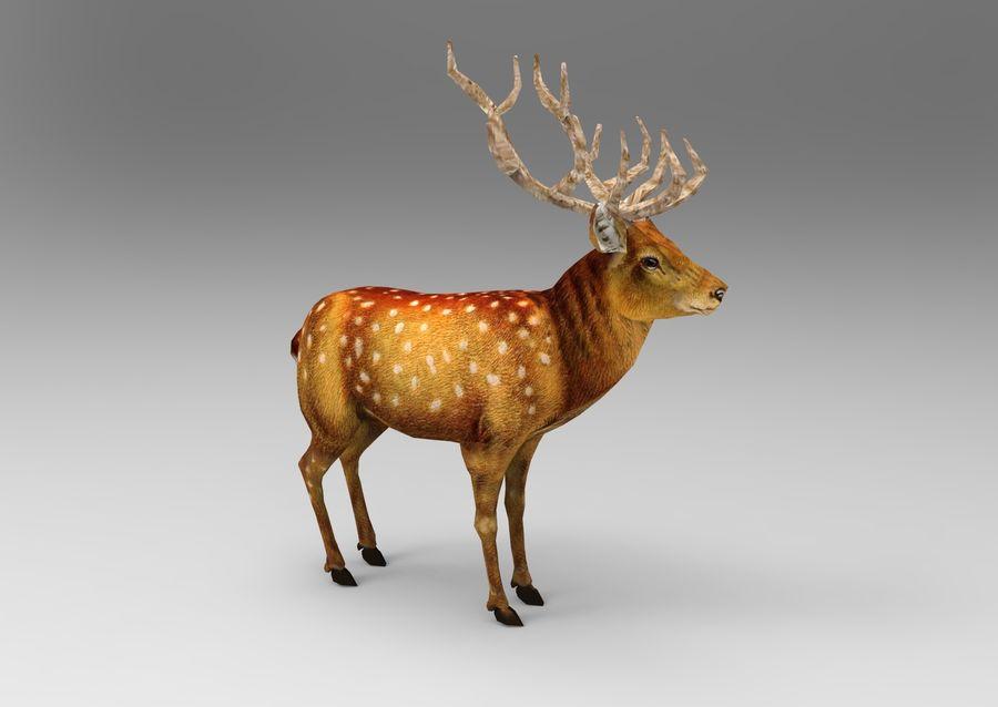 サンタ鹿のそり royalty-free 3d model - Preview no. 20