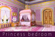 Cartoon princess bedroom 3d model